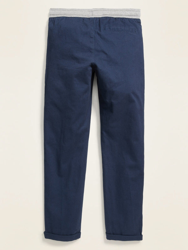 Pantalón Knit Waist Relaxed Slim Pant-Ink Blue