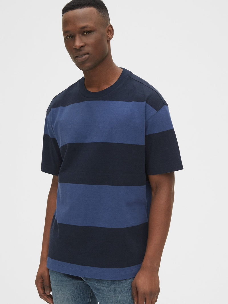 Camiseta Manga Corta-Easy T Stripe-NAVY STRIPE