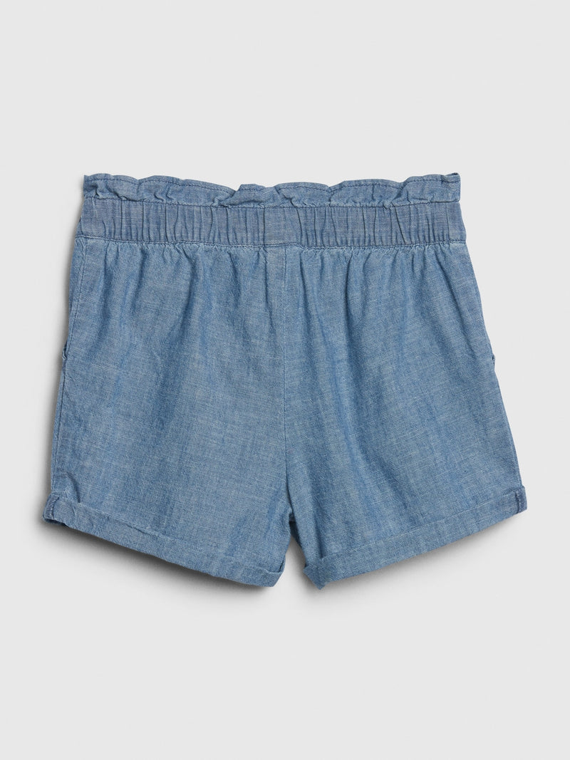 Gap Toddler Chambray Utility Shorts - Azul