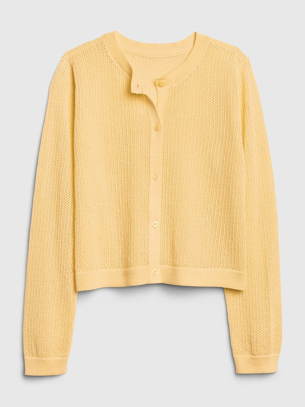 Sweater-Easter Cardi-HAVANA YELLOW