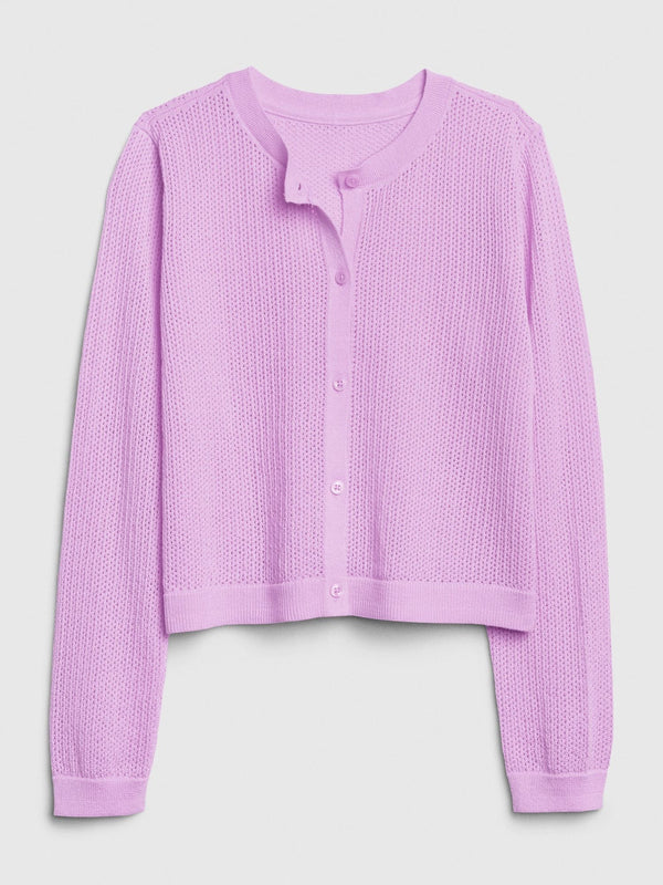 Sweater-Easter Cardi-LAVENDER PINK