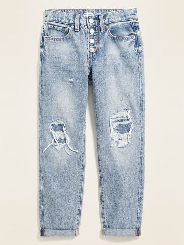 Fashion Denim Indigo Boyfriend-Re-Work