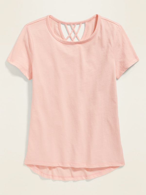 Camiseta Manga Corta Lattice Softest -Oyster Pink