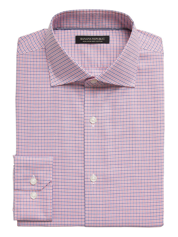 Camisa-Cutaway Collar-Red Plaid