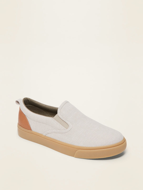 ON Slip-On Sneakers For Boys - Natural-Beige