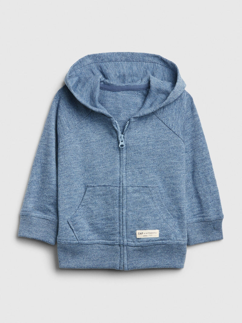 Sweater Active Hood-INDIGO HEATHER B