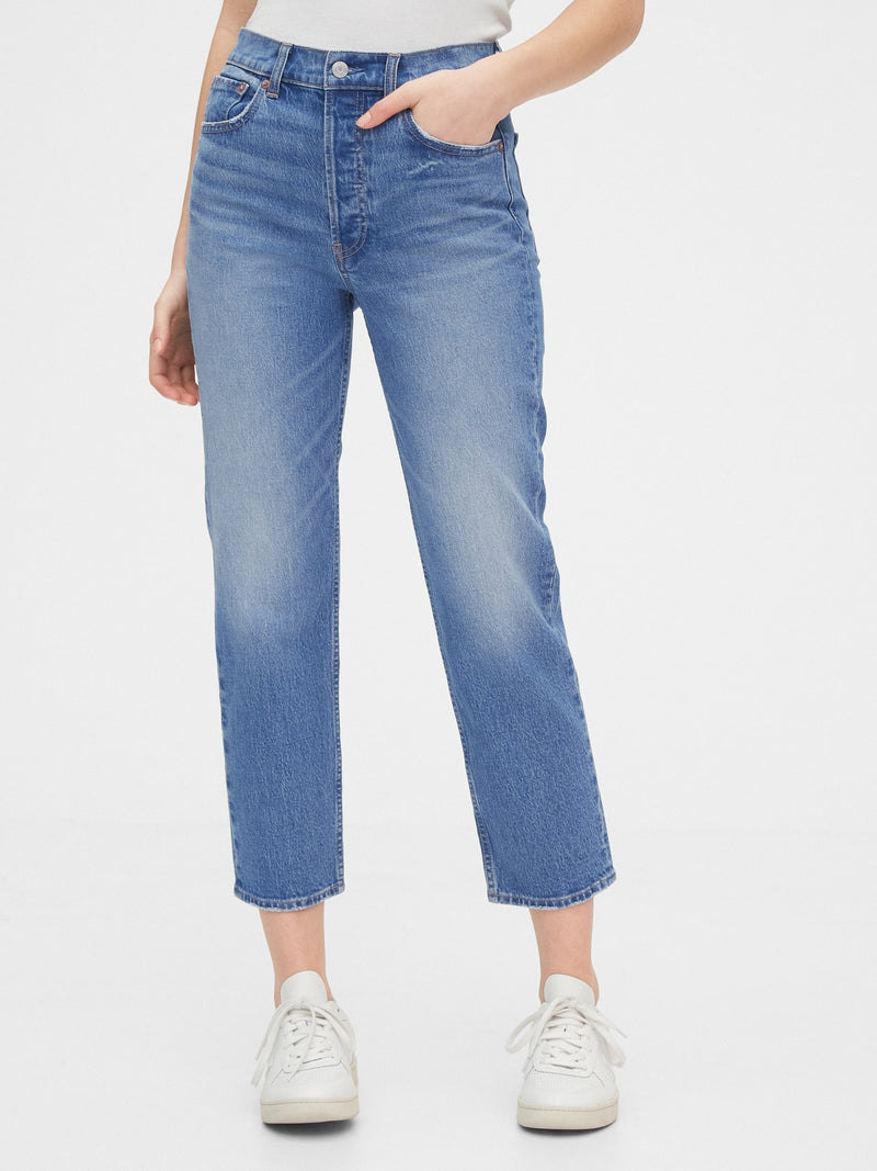 Gap High Rise Cheeky Straight Jeans - Indigo