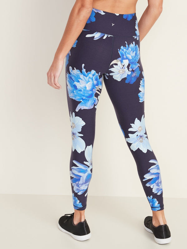 Pantalón Active -Elevate 7/8 Floral Print-Navy Floral (High Rise)