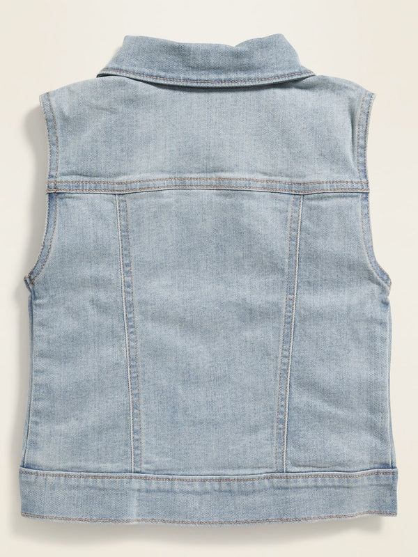 Jacket-Denim Vest-Light Wash