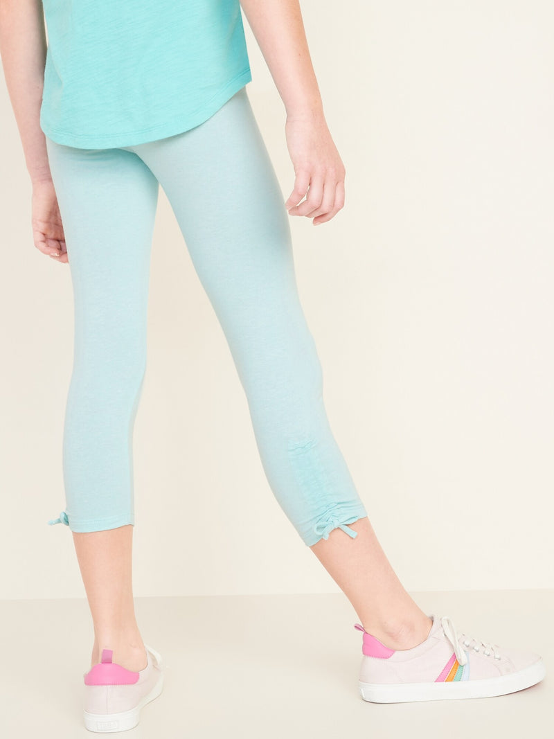 Leggings- Cinched Ankle Fashion -Illusion