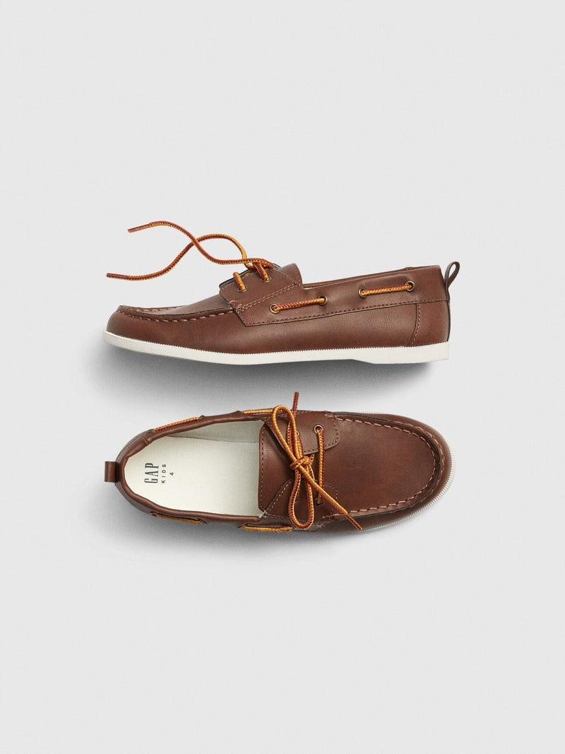 Zapato Boat -DARK BROWN