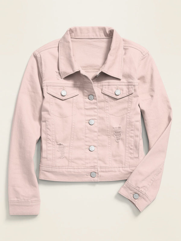 Jacket Denim -Pink Elephant