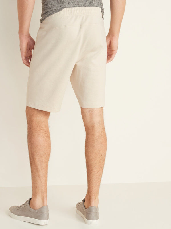 Shorts Active Bottoms-9 Inch Dynamic Fleece -Oatmeal