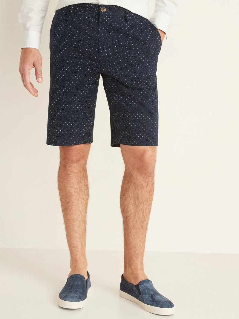 Shorts-Ultimate Slim 10 Inch - 2X1 Stretc-Navy Dots