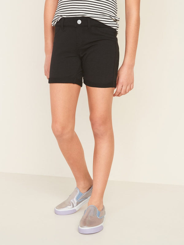 Denim Shorts French Terry-Black Jack