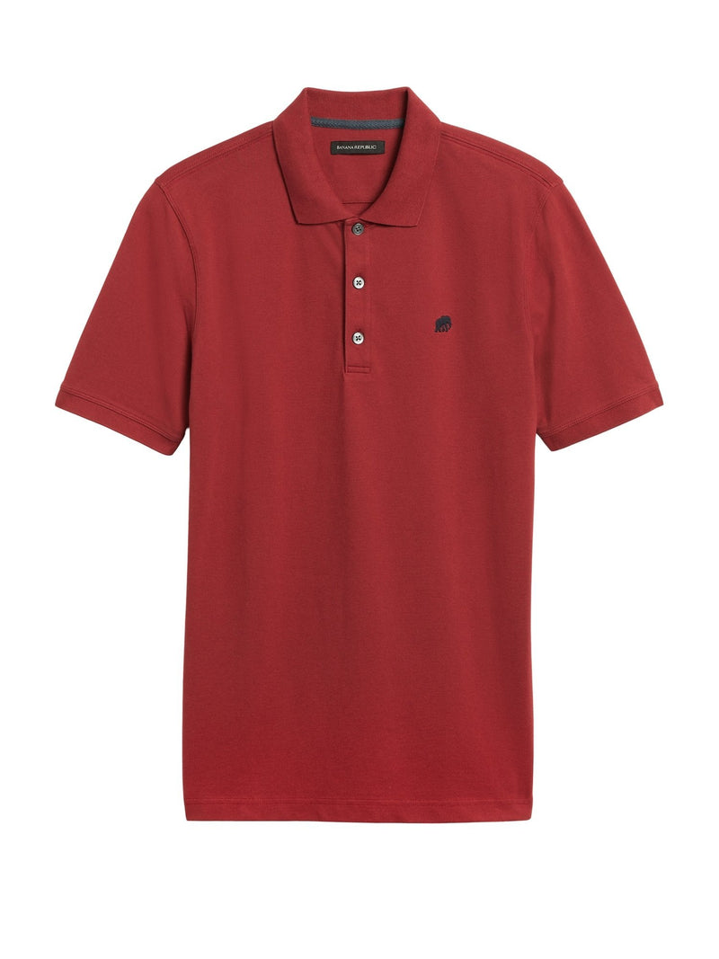 Camisa Polo- Branded Pique -Crimson Red