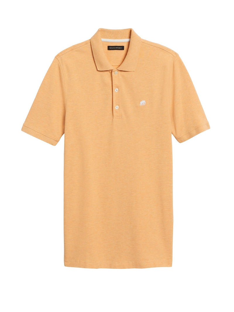 Camisa Polo- Branded Pique -Orange Blaze