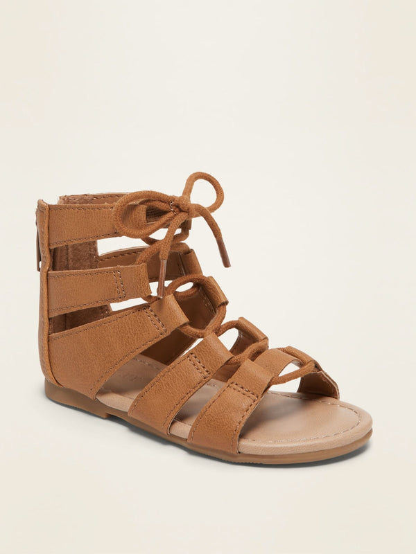 Zapato Hot Lace Up Glad-Tan