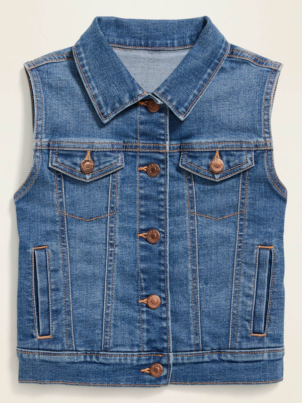 Jacket-Denim Vest-Medium Wash