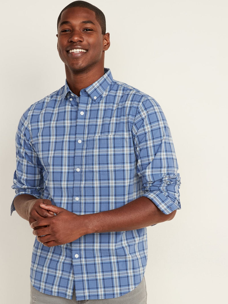 Camisa Manga Larga Reg Everyday Poplin Plaid-BLUE PLAID