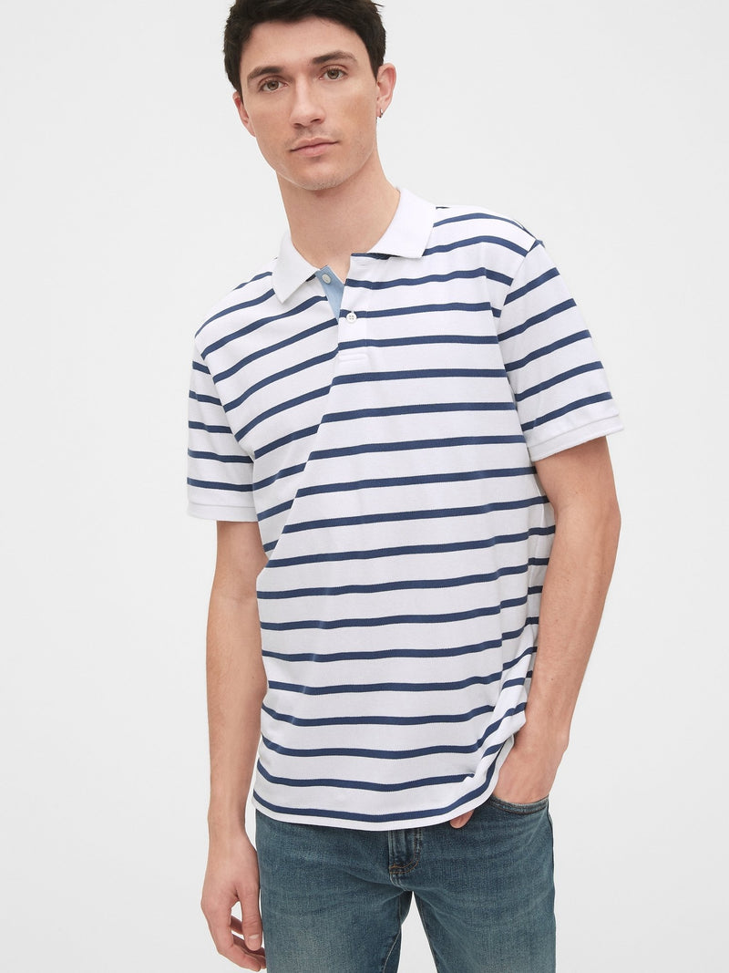Camisa Polo-Pk Stripe-OPTIC WHITE