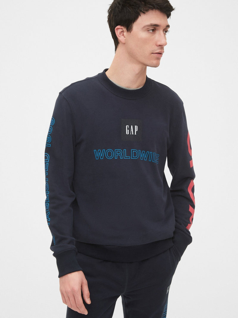 Sudadera Fleece-Gworld Crew-NEW CLASSIC NAVY 3