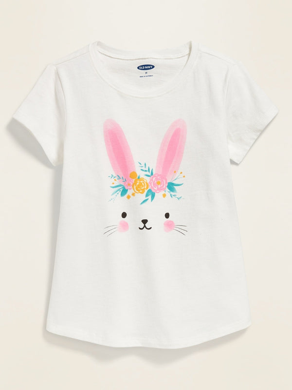 Camiseta Easter Graphic Tee For Toddler Girls - Bunny