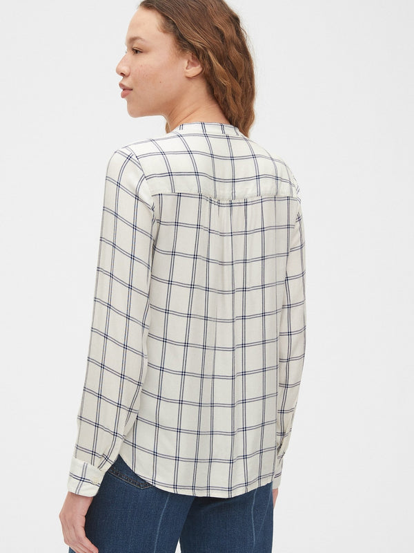 Camisa Manga Corta Navy Plaid