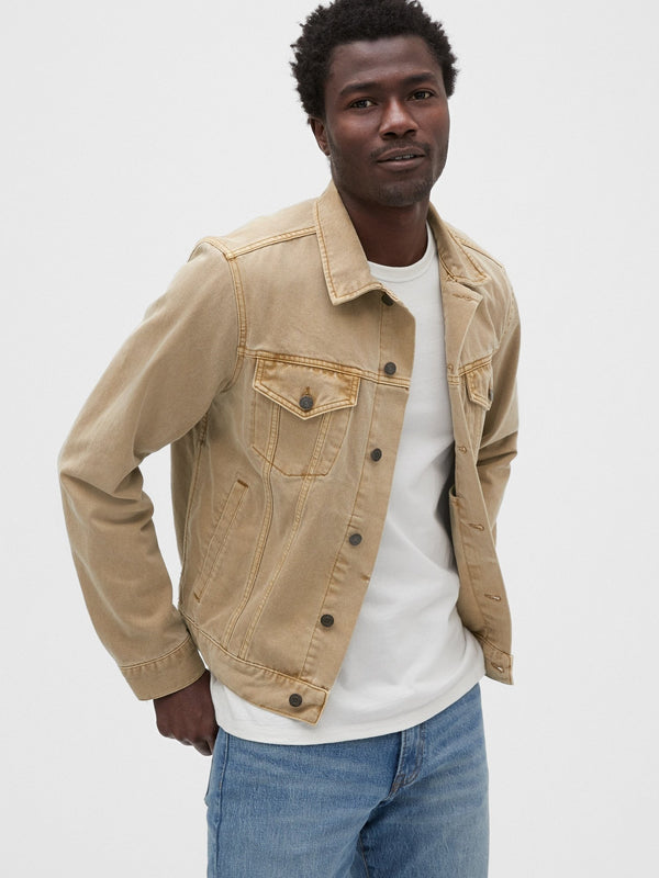 Jacket Denim - Faded Oak-FADED TAN