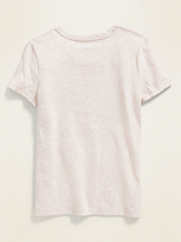 Camiseta Logo-Graphic Crew-Neck Tee For Girls - Oatmeal