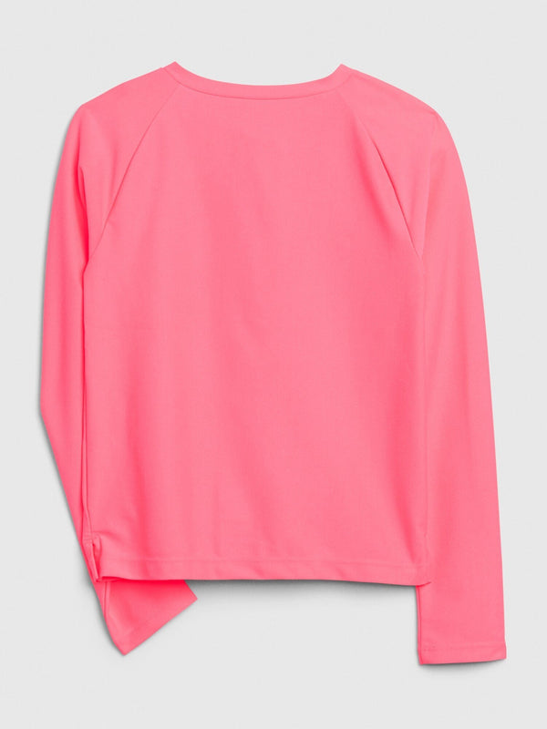 Swim-Zip Rash Top-PINK POP NEON
