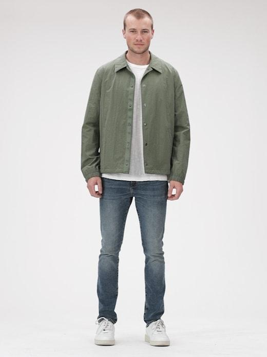 Jackets-Short Coaches Jacket-MESCULEN GREEN