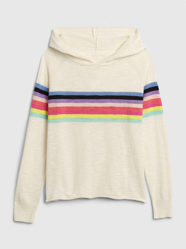 Sweater Hoodie-IVORY FROST