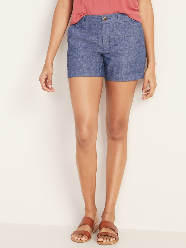 Shorts-Ed 5 Chambray-Dark Chambray
