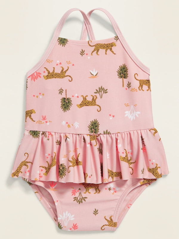 Short Swim Peplum 1Pc -Animals