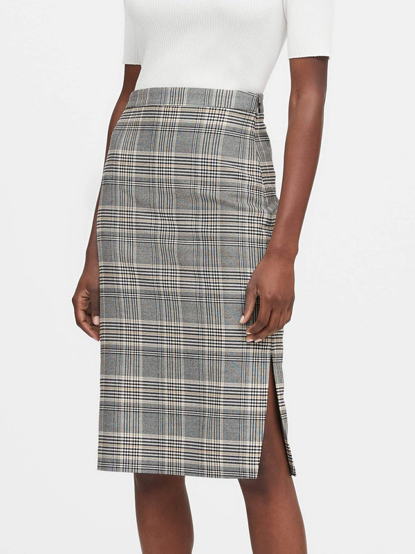 Enagua-Pencil Plaid-Black Plaid