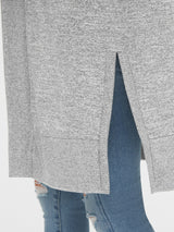 Sweater Active Tops-LIGHT GREY MARLE