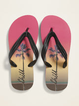 ON Zapato Printed Flip-Flops for Boys - Chillin
