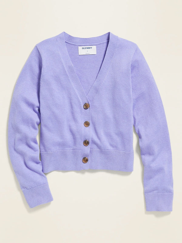 Sweater V-Neck Easter Cardi-Water Lily