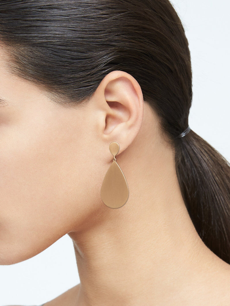 Aretes-Drop Of Dew Dangle -Gold