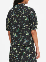 Camisa Manga Corta-J Co Ss Elbow Sleeve Mock Neck Blouse Di-Black Ditsy Floral