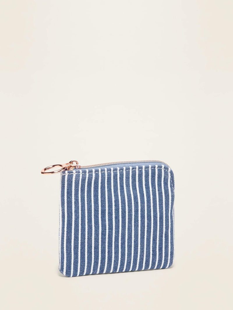 Billetera-Stripe Chambray