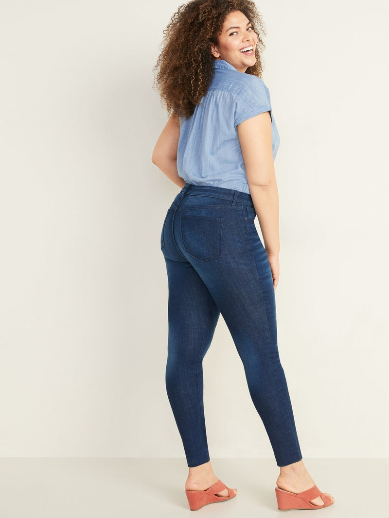 Denim-Rock Dark Blue-Diana (Mid Rise)