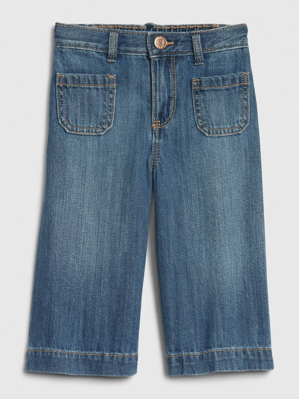 Denim-Med Wide Leg-Dark Wash