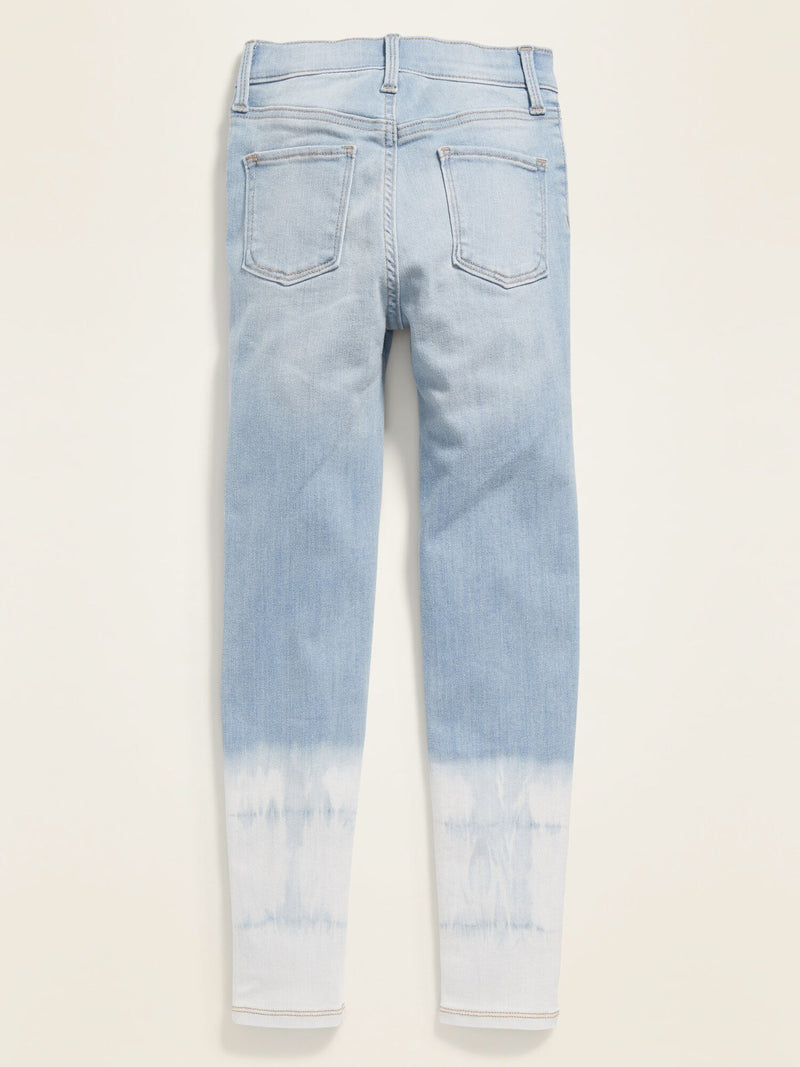 Fashion Denim Dip Dye Hem Ballerina-Tie Dye Cool