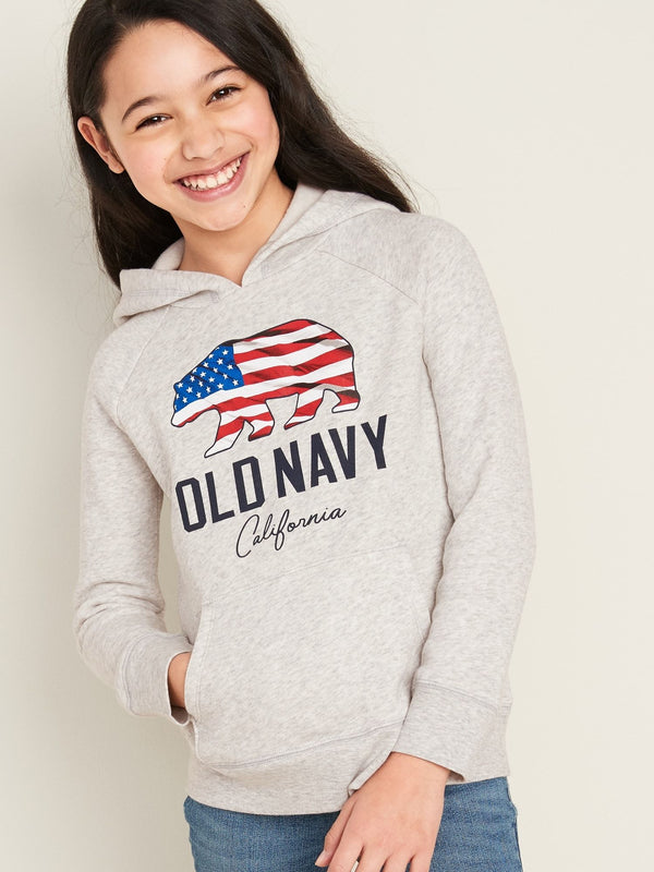 ON Sudadera Logo-Graphic Pullover Hoodie For Girls - Americana