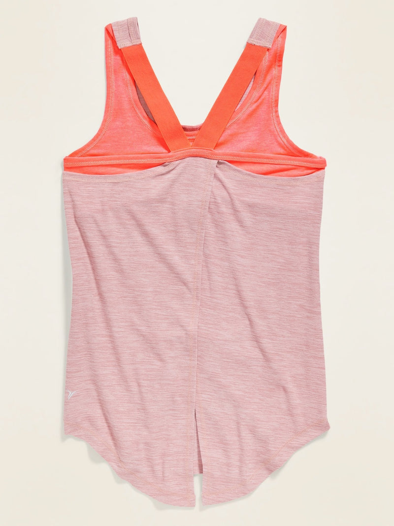 ON Ejercicio Ultra-Soft Breathe On 2-In-1 Sports Bra Tank For Girls - Rosa Paradigm