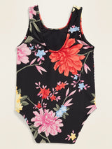 Swim 1Pc-Black Floral