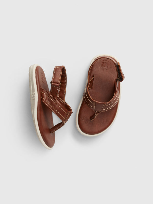 Gap Toddler Molded Leather Flip Flop - Bruno Brown