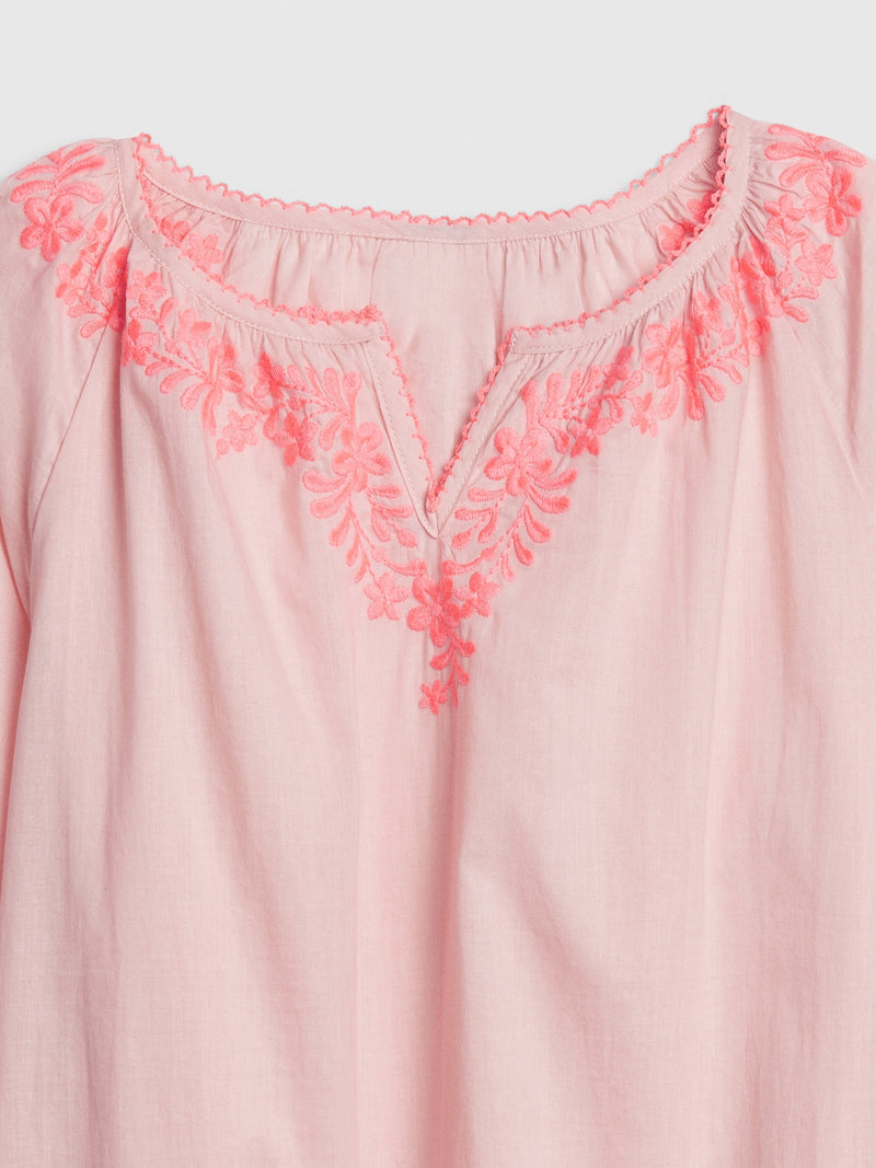 Gap Kids Embroided Top - Misty Rose